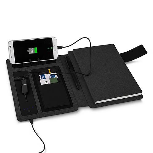 Caderno com PowerBank Personalizado Nexo Brindes Novo Hamburgo RS