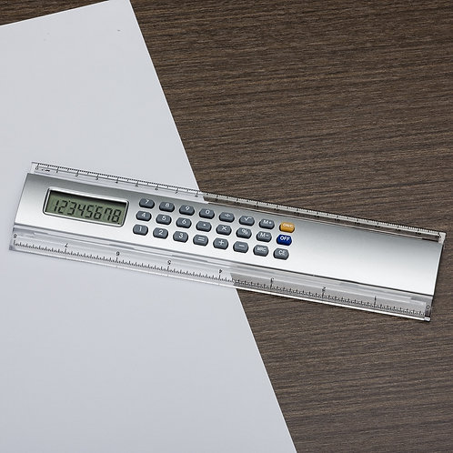 Régua 20 cm com Calculadora Personalizada