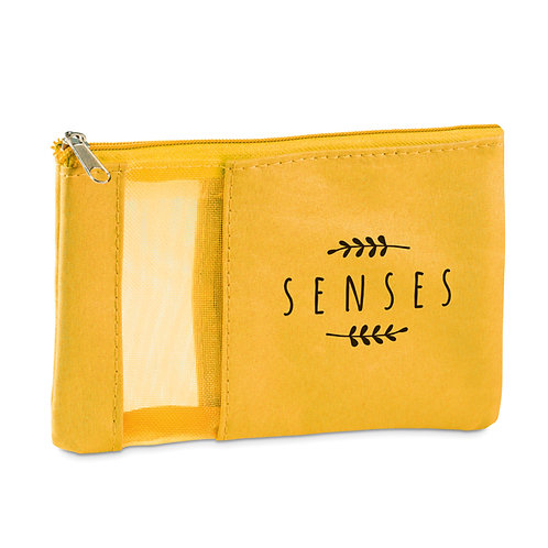 Necessaire amarela Multiuso Personalizada nexo brindes