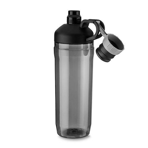 Garrafa plástica 1,6 litros com alça para transporte e tampa rosqueável embutida