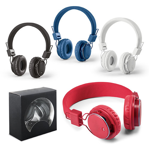 Fone de Ouvido Dobrável Ajustável Personalizado fone de ouvido corporativo fone de ouvido brindes Nexo Brindes Novo Hamburgo
