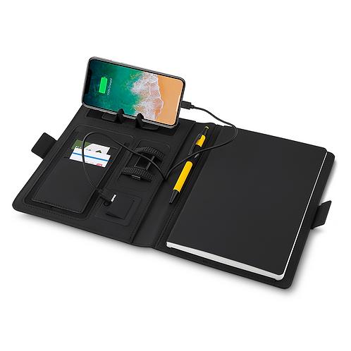 Caderno com PowerBank Indução Personalizado Nexo Brindes Novo Hamburgo RS