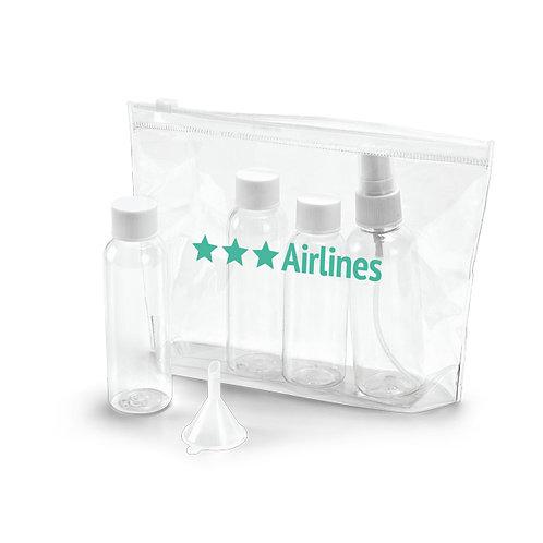 Necessaire PVC com Frascos Personalizada nexo brindes