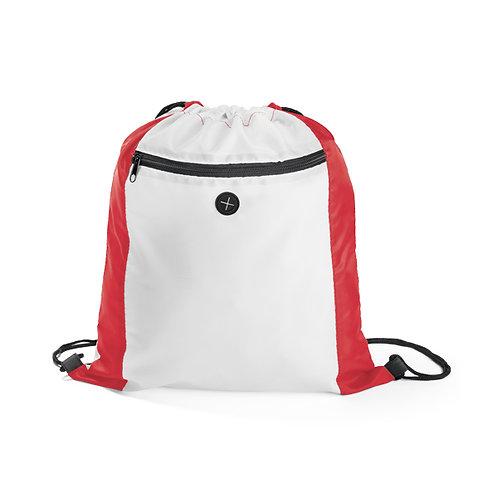 mochila saco sacochila com bolso tipo mochila vermelha