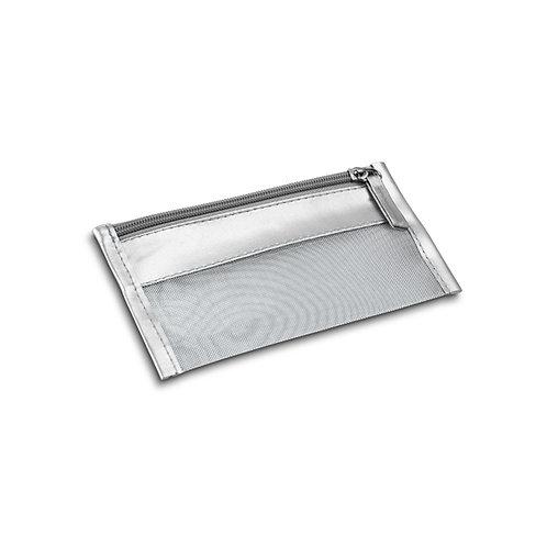 Necessaire Metalizada prata  Personalizada nexo brindes