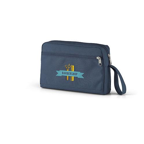 Necessaire azul Nylon Personalizada nexo brindes