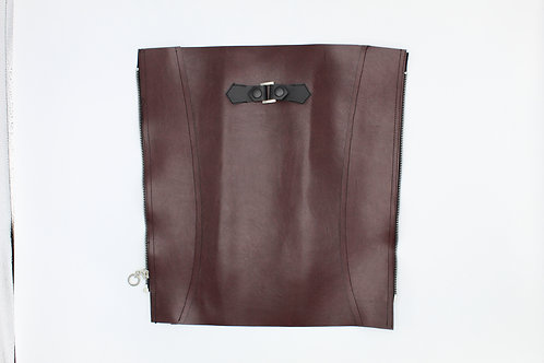 CORDOVAN FAUX LEATHER BRACE COVER