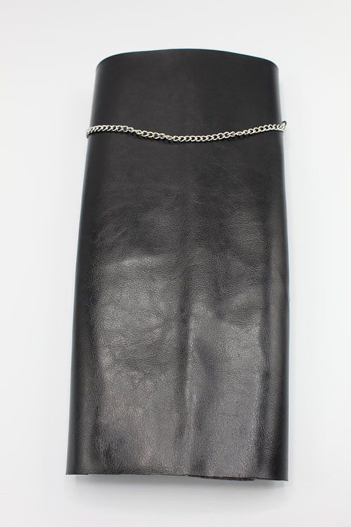 BLACK FAUX LEATHER BRACE COVER
