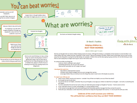 Free Download - Dr Beck's Tool Kit to help children beat their worries