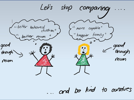 Stop making comparisons to other parents in six simple steps.