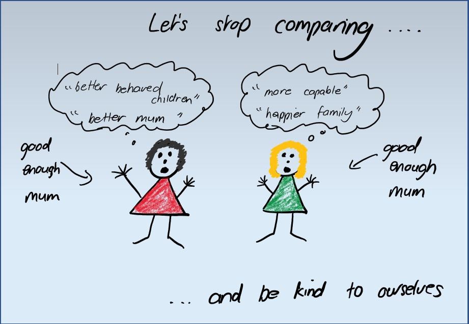 Stop comparing to other parents and be kind your yourself.