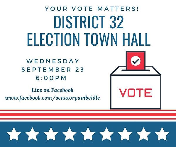 Election Town Hall social media option 3