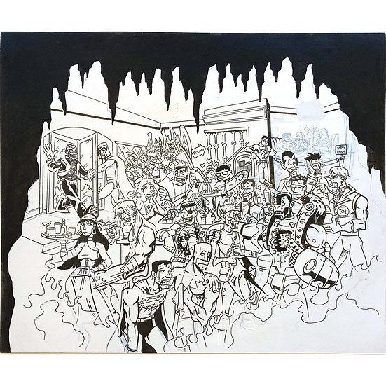 Super Hero Limbo Lounge artwork