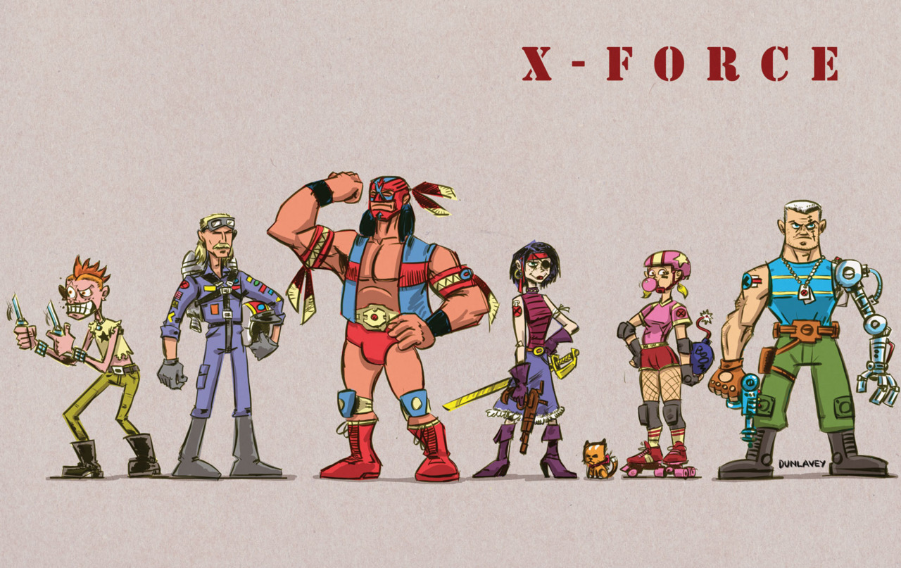 X-Force #1 cover homage