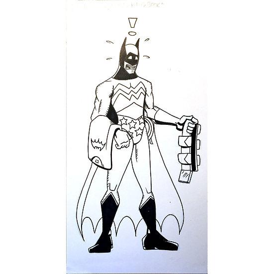 Batman illustration for Wizard Magazine