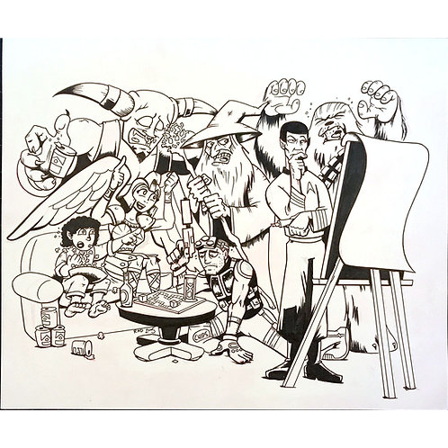Pictionary Mashup (InQuest magazine) artwork