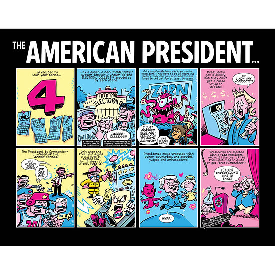 Action Presidents prints