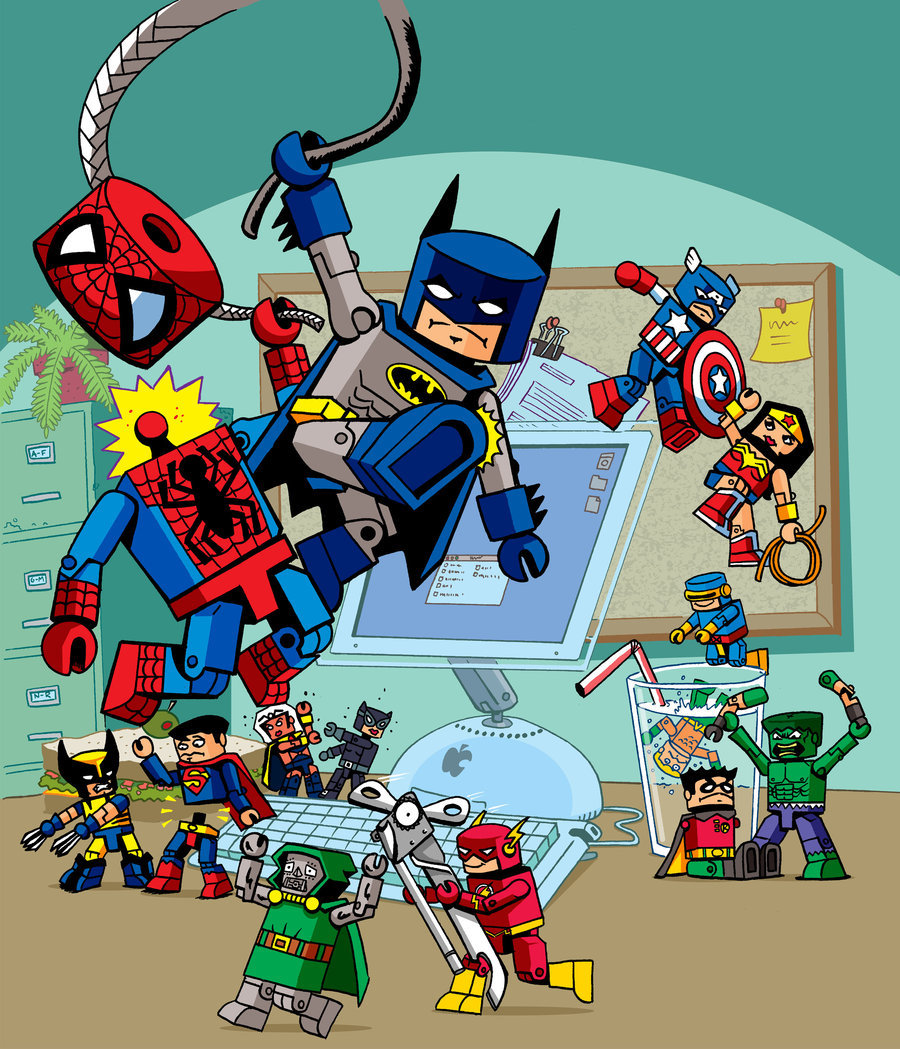 Minimates Toy Fight