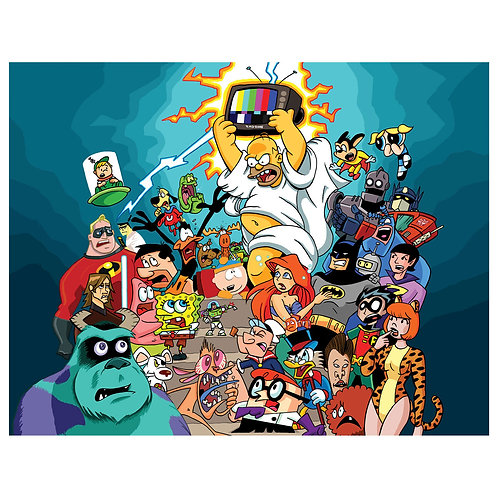 Greatest Cartoon Characters print