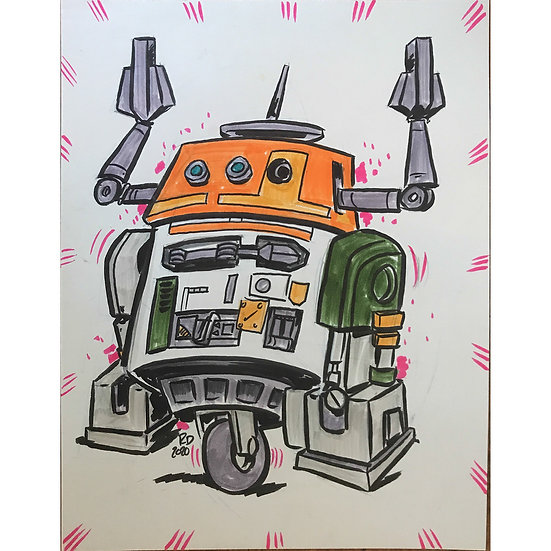 Star Wars Chopper C1-10P sketch
