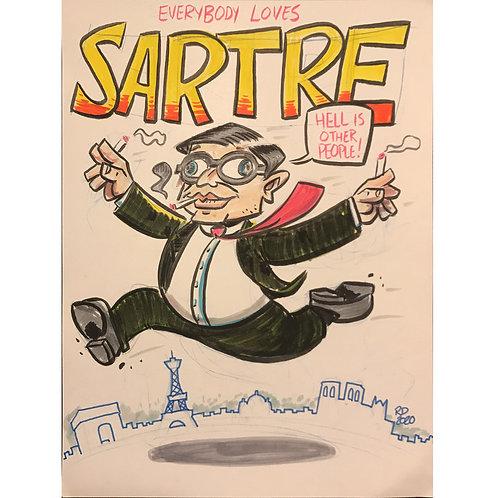 Jean-Paul Sartre sketch