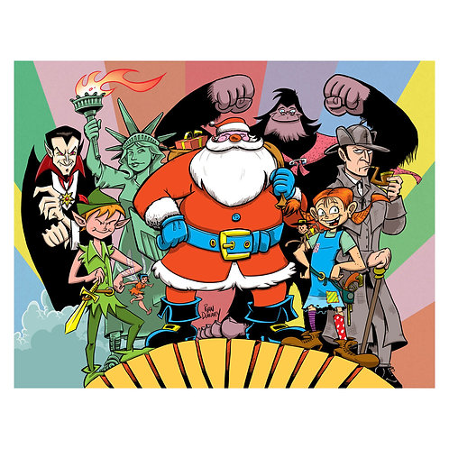 Santa's Super Secret Heroes print