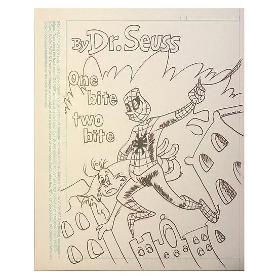 Dr Seuss Spider-Man art