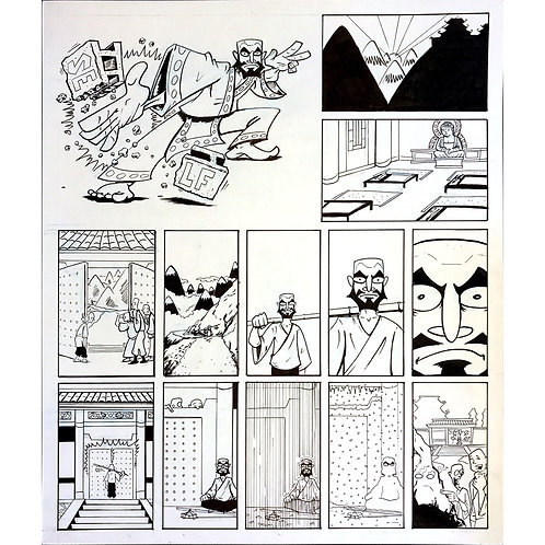 Action Philosophers pages 71, 72 & 73 art
