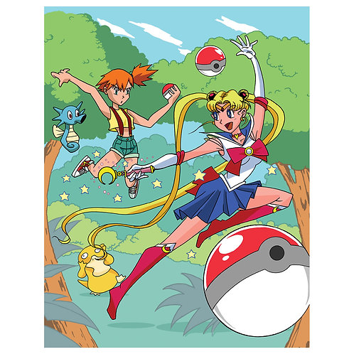 Last Man Standing: Misty vs Sailor Moon print