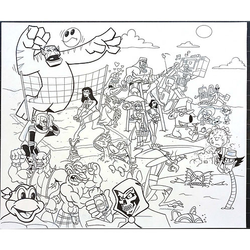ToyFare - Cartoon Beach Party art