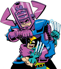 Galactus vs Wolverine