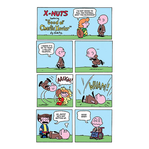 X-Men/Peanuts mashup print