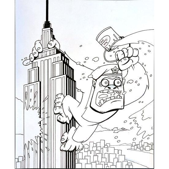 Giant Gorilla cover art for Pinque magazine
