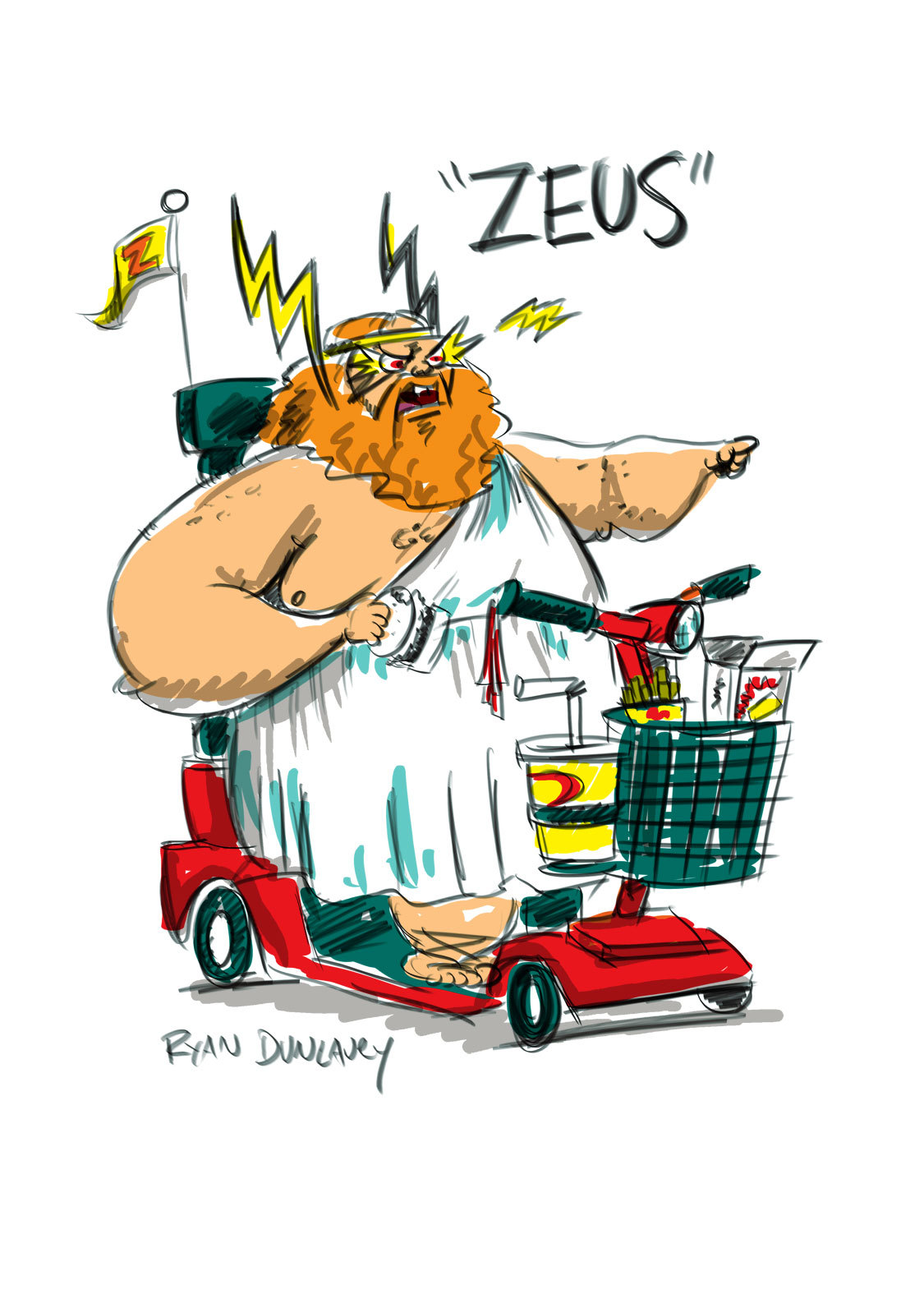 """Zeus - one of the villains from """"Bad Guy"""""""