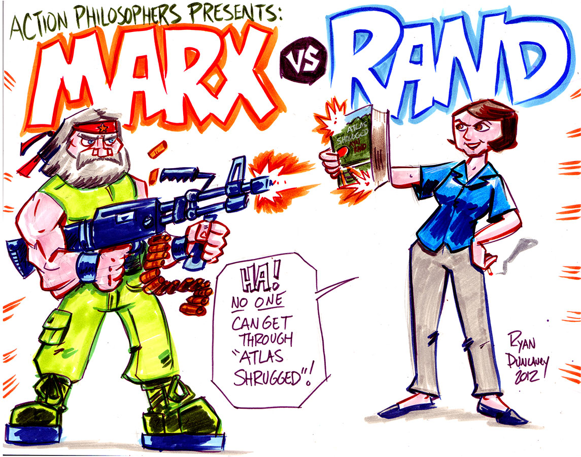 Action Philosophers: Marx vs Rand