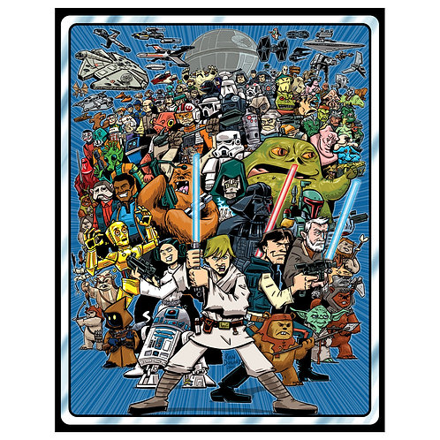 Star Wars Collect All 92! print