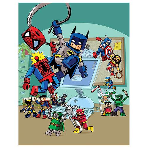 Marvel vs DC Mini Mates print
