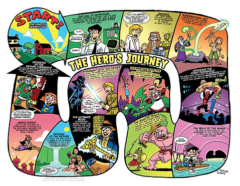 Action Philosophers - The Hero's Journey print
