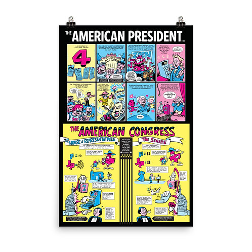 Action Presidents classroom poster