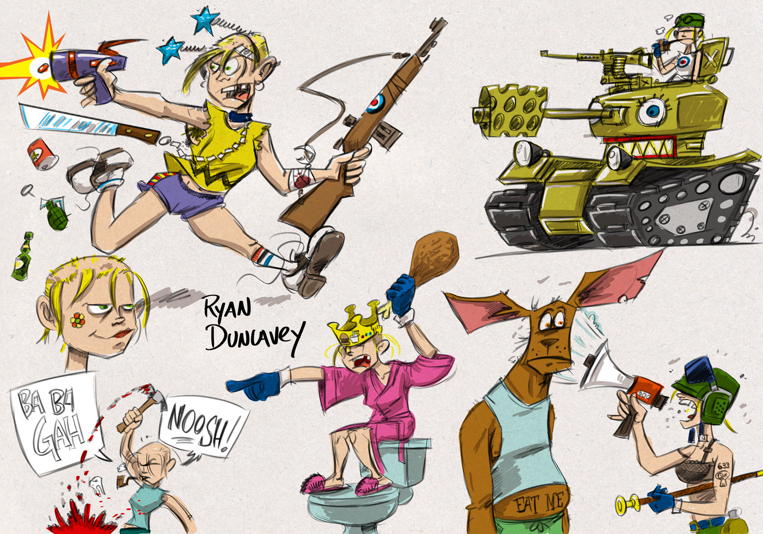 Tank Girl sketches
