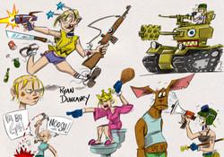 Tank Girl sketches