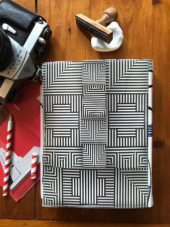 Unique notebook with collage cover by DelphineIV