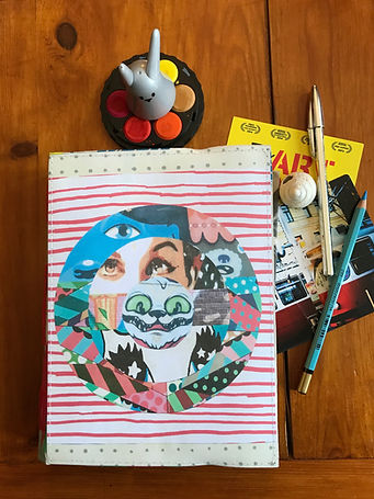 Handmade collage notebook by DelphineIV