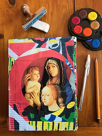 Unique handmade collage notebook by DelphineIV