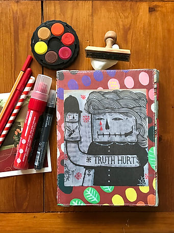 Handmade notebook with unique collage cover by DelphineIV