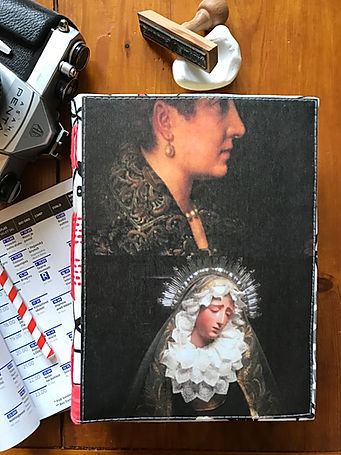 Handmade notebook with collage cover by DelphineIV