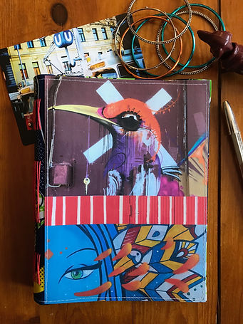 """Handmade notebook """"the Key"""" with a unique collage cover by DelphineIV"""