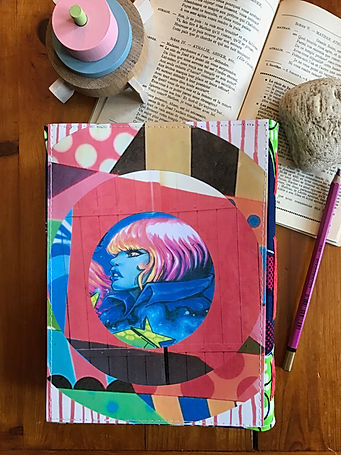 Durable handmade notebook with DelphineIV