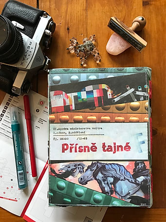 "Unique collage notebook ""Top secret"" by DelphineIV"