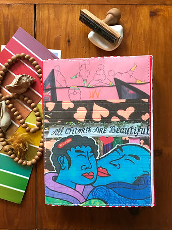 A durable handmade notebook with its unique collage cover by DelphineIV